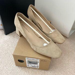 Zara faux suede block heels 37